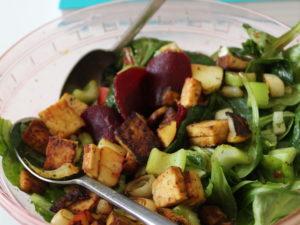 Wintersalat – nicht ganz roh und lecker
